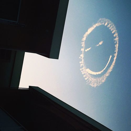 Skywriting Smiley Face Lookingup Hollywood Losangeles Friday Smile Sky Fine Art Photography