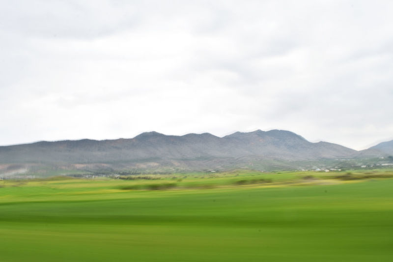 Abstract Agriculture Beauty In Nature Besparmakdaglari Cityscapes Cyprus Field Freshness Green Color Landscape Light Lightpaintingphotography Mesaoria Minimal Mountain Mountain Range Nature Nature Nicosia No People North Cyprus Tranquil Scene Tranquility