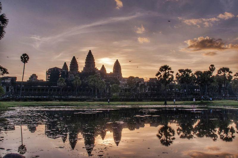 Angkor war temple at sunrise