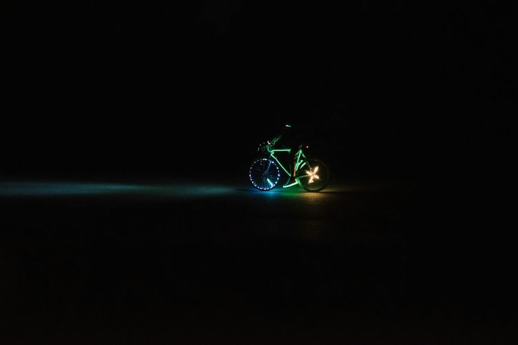Bicycle Bicycling LED LED Light Outdoors Night Sports Colorful Colorsplash