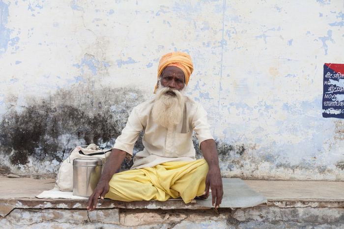 ASIA India Indian Culture  People Portrait Pushkar Rajasthan Sadhu