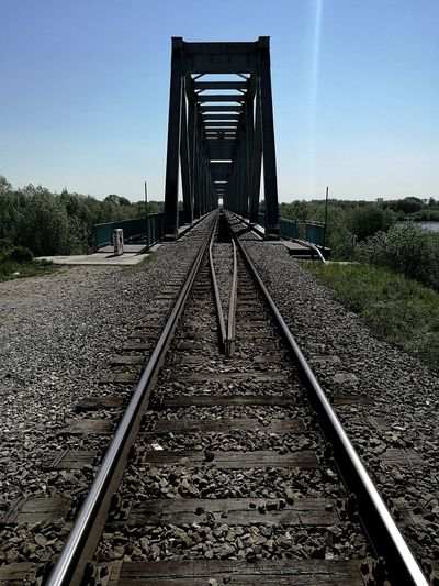 Railroad Track Outdoors Day No People Sky Train Bridge Architecture