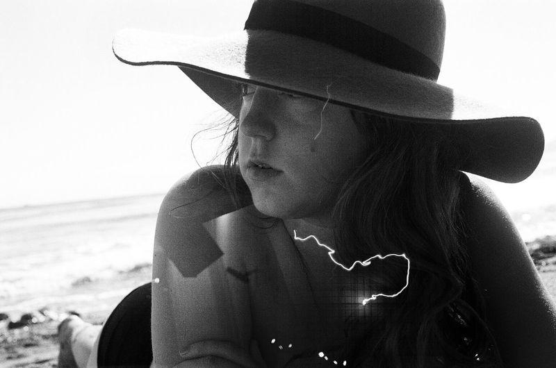 35mm Film Double Exposure Blackandwhite Tesla Coil Central Coast Beach Life