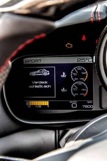 Car Car Interior Close-up Cockpit Convertible Dashboard Ferrari California T HS Retractable Roof
