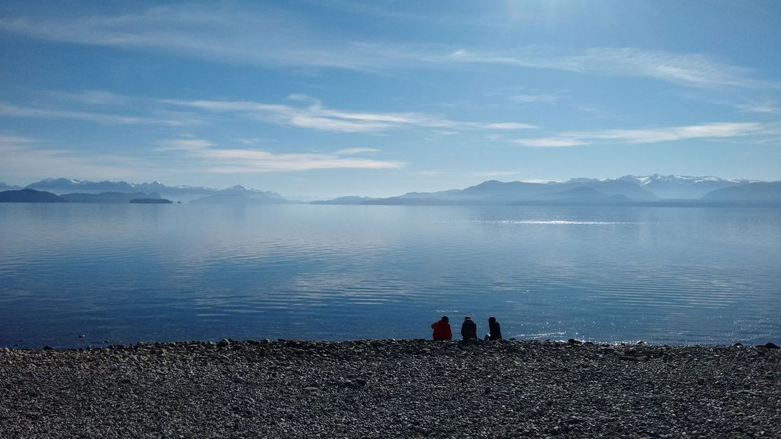 Bariloche Beauty In Nature Cloud - Sky Comtemplation Contemplacao Contemplación Contemplative Full Length Lake Leisure Activity Meditation Mountain Nature Outdoors Patagonia Patagonia Argentina People Tranquil Scene Tranquilidad Tranquilidade Water