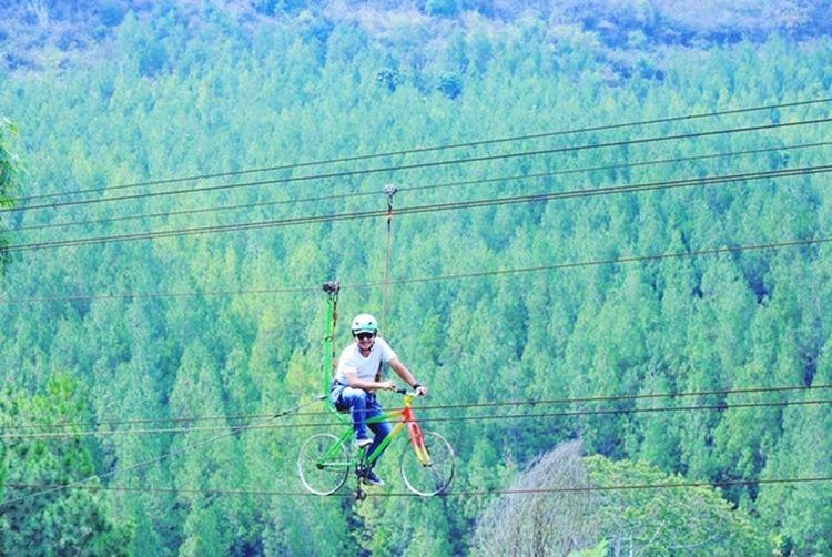 """wooowwwww"""" Weekend Happy My Friend ❤ Headwear Mountain Cycling Helmet Full Length Tree Electricity Pylon Forest"""