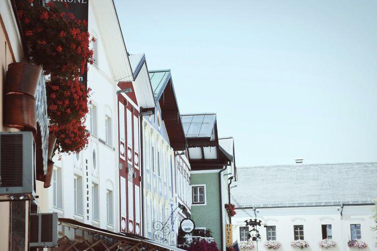Vacation Holidayseason Summer Sightseening Mondsee Salzburg Austria Red Blue Architecture Eyeemphotography Local Culture