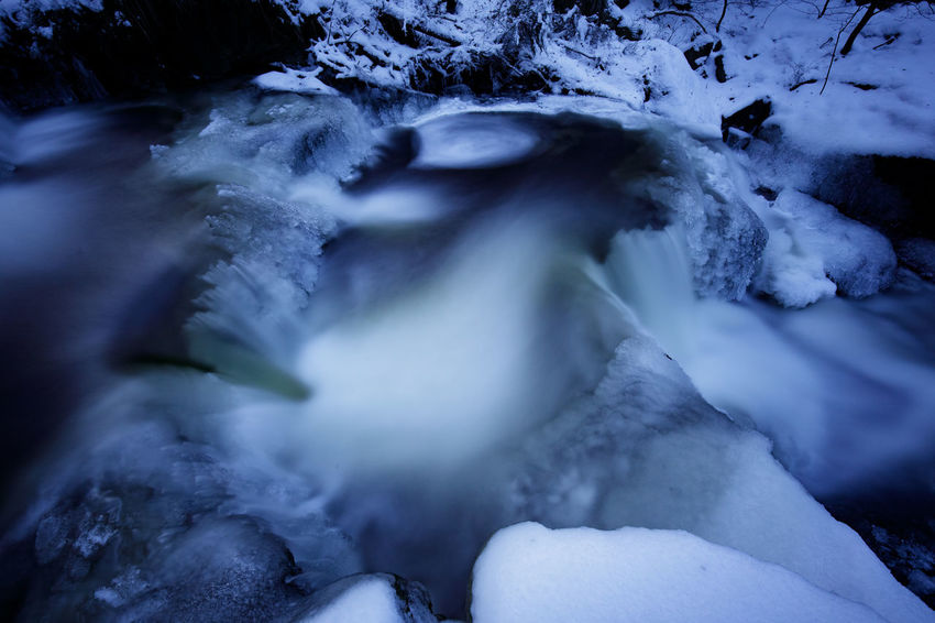 Ilsetal Beauty In Nature Blurred Motion Cold Temperature Day Flowing Flowing Water Harz Ice Long Exposure Motion Nature No People Outdoors Power In Nature Rock Rock - Object Scenics - Nature Snow Solid Stream - Flowing Water Tranquility Water Winter