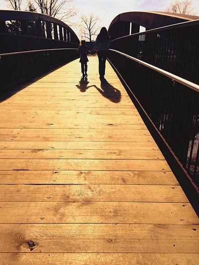 Let the sun shine Enjoying Life Enjoying The Sun Light And Shadow Shadows Soaking Up The Sun Sunshine Bridge Walking Around Walking