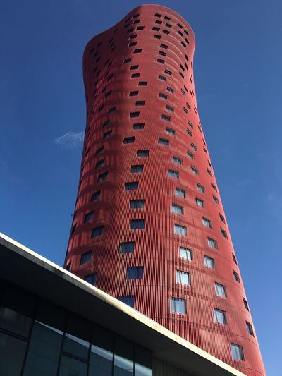 Hotel in Barcelona Barcelona Hotel Low Angle View Architecture Built Structure Sky Building Exterior No People Tall - High City Office Building Exterior Travel Destinations Tower Tourism