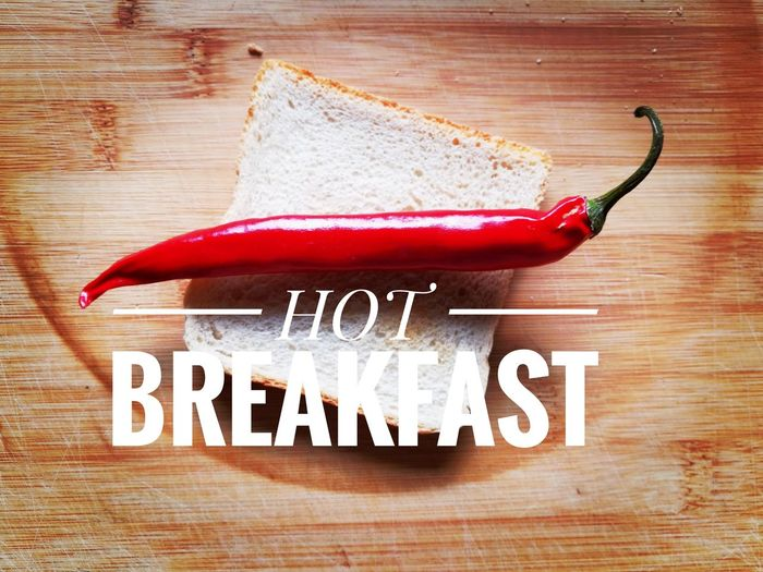 Chili  Chili Pepper Toasted Bread Toasts Toastbread Toast🍞 Breakfast ♥ Breakfast Time Hot Huaweiphotography HuaweiP9 Tabletop Still Life Text