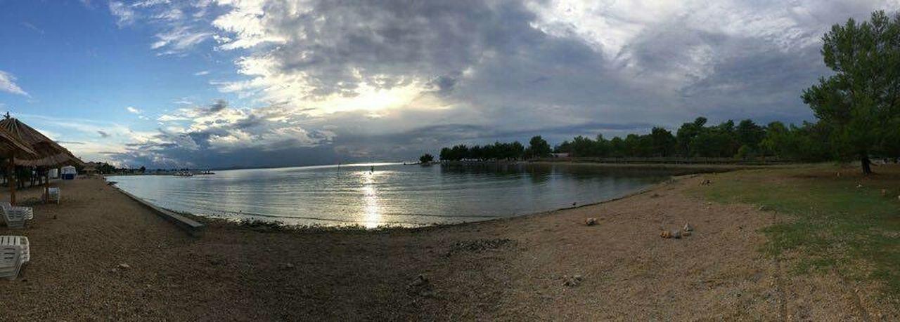 Sea Taking Photos Sunny Vir Croatia Panorama Newtalent