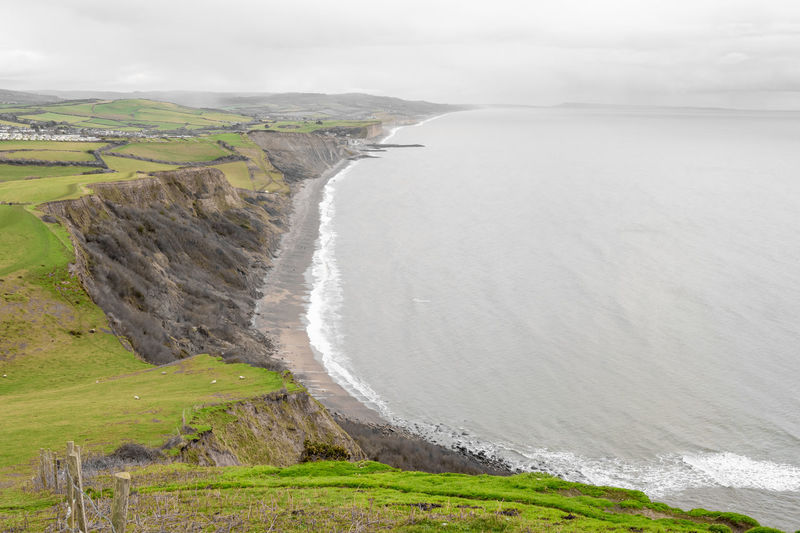 Colorsplash photo of the view from the top of thorncombe beacon on the dorset coastline