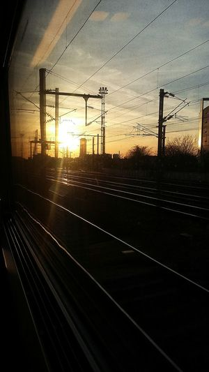 Close to Paris and today on my way to London Traveling By Train Sunset_collection Sun_collection Sunset No Filter Facing The Sun Holidays ☀