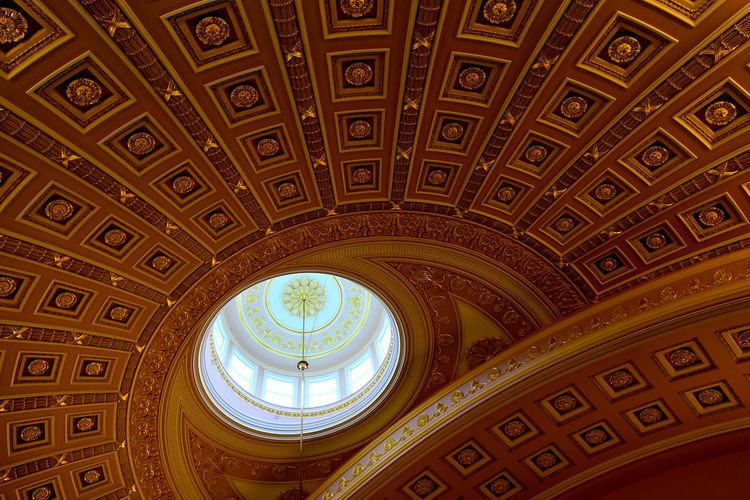Architecture Dome Ceiling Roof State Capitol Washington DC Washington, D. C. Dome State Capital Building State Senate Stonework