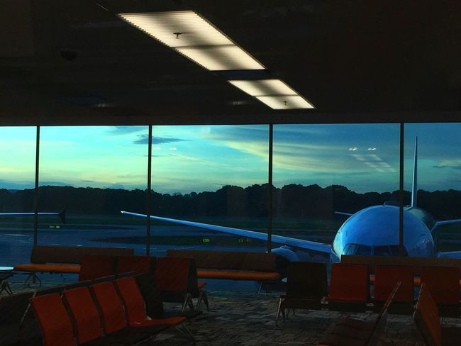 Journey Airport Transportation Sky Travel Airplane No People Window Illuminated Air Vehicle Indoors  Airport Departure Area Day Nature EyeEmNewHere EyeEmNewHere