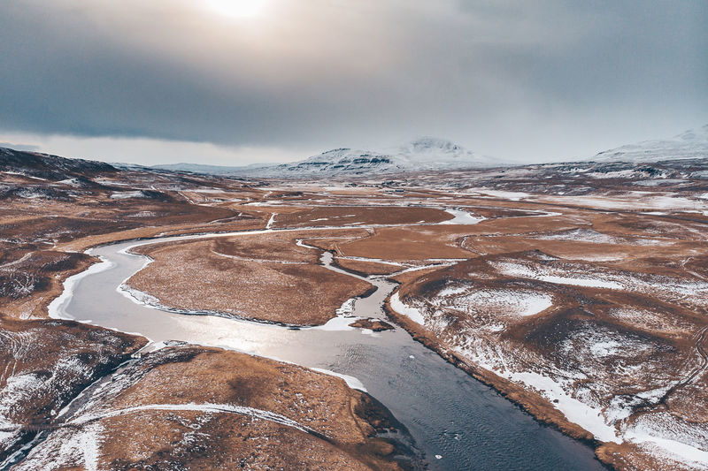Iceland Landcape Aerial Shot Drone  Aerial View Beauty In Nature Cloud - Sky Cold Temperature Day Drone Photography Environment Landscape Mountain Nature No People Non-urban Scene River Scenics - Nature Sky Snow Snowcapped Mountain Tranquil Scene Tranquility Water Winter