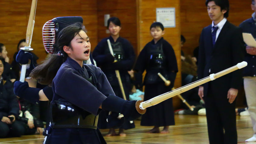 My Daughter Kendo Senior Examination Tokyo Japan EyeEm EyeEm Best Shots Asian Culture Japanese Culture Budo This is after hitting the Torso.