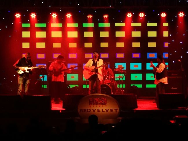 Concert Concert Lights Red Music Guitar Performer  Red Light On Stage Red Velvet Musician Guitarist Culture Night Black And Red Colours Digital Background Multicolour