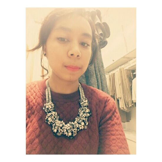 Necklace Love Girl Shopping ♡ Red Zara