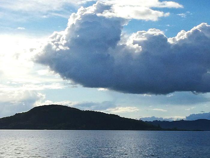 Island Cloud - Sky Water Mokoia Island Lake Nature Outdoors No People Scenics cloud Day Sky lake mood