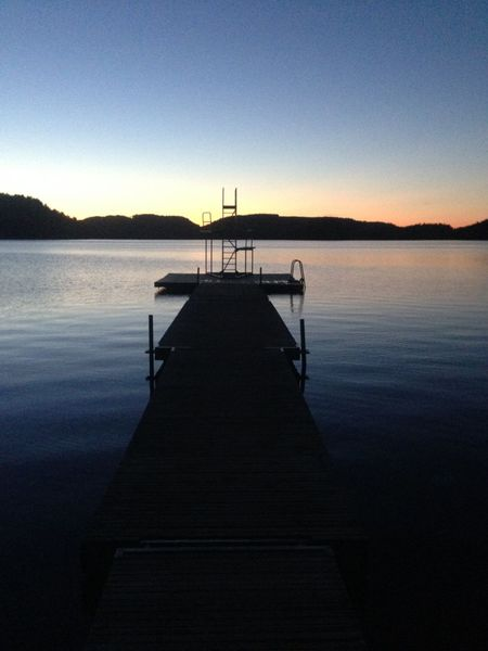 Swedish lake, dusk. . Sweden Lake Sunset Jetty View Jetty Dusk Colours Dusk Evening Sky Diving Board Lake View Lake