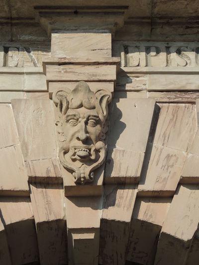 Kronach, Franken, Festung Rosenberg, Hauptportal, Detail, Maske, Skulptur Skulptur, Maske, Detail, Portal