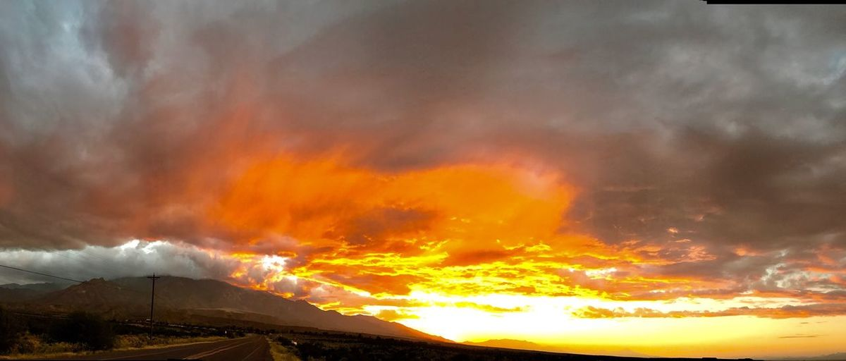 Sunset in Thatcher, Arizona looking up toward Mt. Graham. Sunset Mountain Scenics Dramatic Sky Beauty In Nature Majestic Tranquil Scene Cloud - Sky Tranquility Sky Nature Beauty Cloud Colors Clouds And Sky Arizona Beauty In Nature Nature Photography Safford