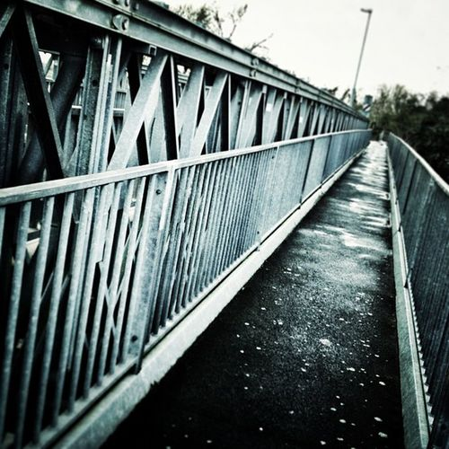 Bailey bridge. Staffs/derbyshire border... Bridge Rivertrent River Staffordshireiswonderful derbyshirewaltonontrent iphoneonly iphonography instagrammer instaphoto pathinstabridge