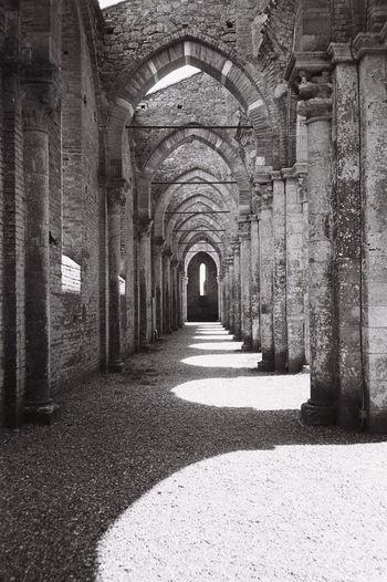 Black & White Olympus XA San Galgano,tuscany Architecture Biancoenero Blackandwhite Built Structure Film Photography History San Galgano San Galgano Cathedral