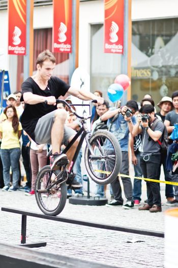 Doing the stunt at DPP Event in BGC, Taguig Adventure Club Athlete BGC Bike Bike Exhibition Casual Clothing City Life City Street Leisure Activity Outdoors Photography Event Stunt Taguig City