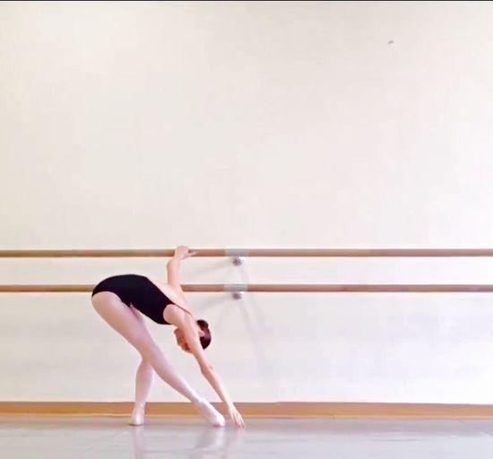 Ballet Dancer Dancing Balance Indoors  Elégance