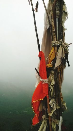 holy flag on top of mountain EyeEmNewHere Nautical Vessel Men Fog Rowing Fisherman