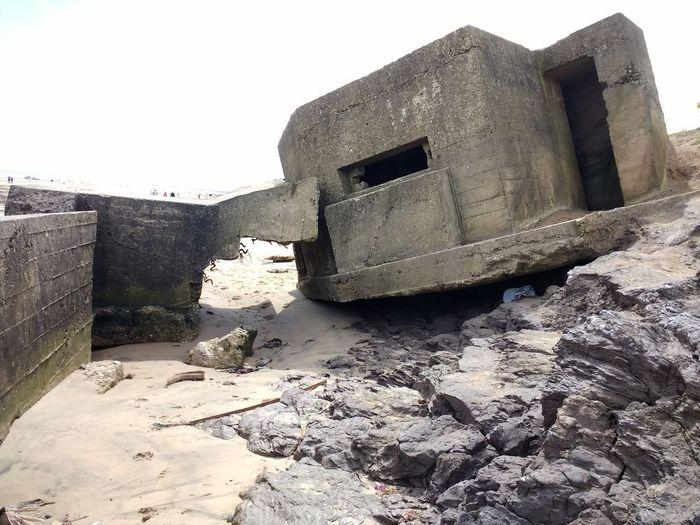 Beach Sand Ww2 WW2 Leftovers Sea Defenses Concrete Concrete BunkerWw2 sea defences at fraisthorpe beach, yorkshire