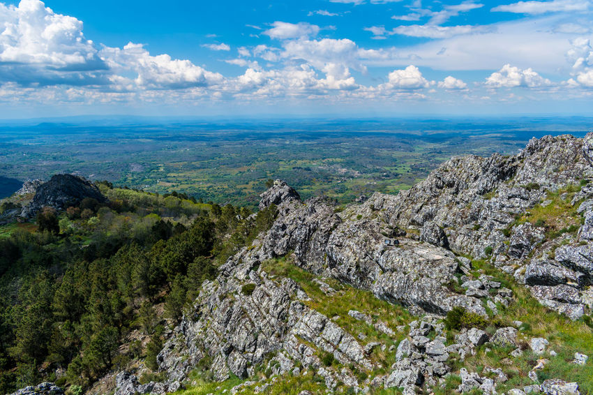 Castelo de Marvão Landscape_Collection Rock Formation Sky And Clouds Cloud - Sky Landscape Mountain Mountain Peak Mountain Range Mountain_collection Rock - Object Rocky Mountains Sky Sky Only Sky_collection