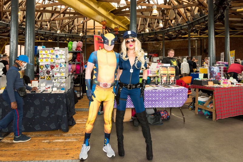 Derby Comicon 2017 Adult Comicon Cosplay Day Fantasy Full Length Indoors  Men People Standing Superhero Women