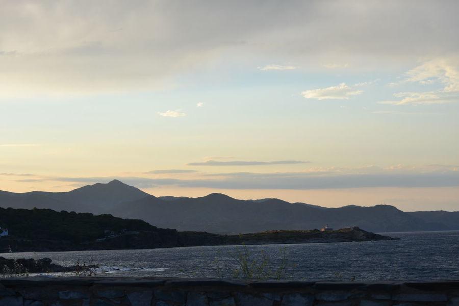 Sunset Cloud - Sky Blue Water Tranquility Travel Destinations Landscape Outdoors Nature Spaın Costa Brava Port De La Selva No People