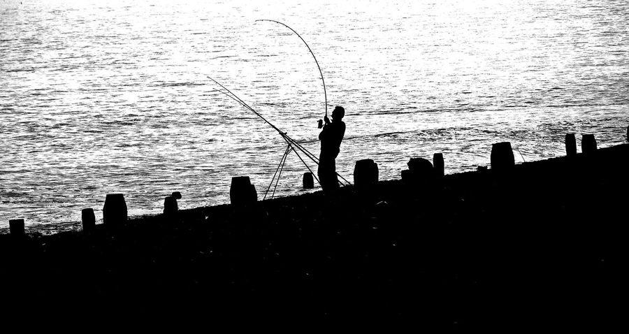 Worthing Sunset Fisherman Seafront First Eyeem Photo