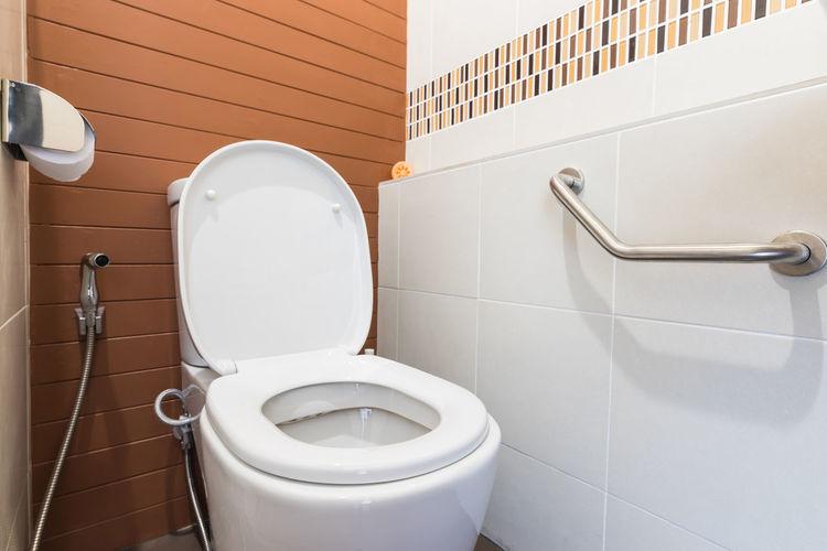 Toilet bowl at home