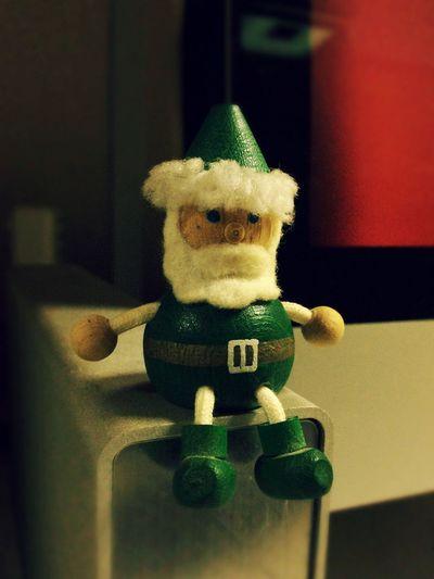 Santaclaus Greensanta Figurine  Wood サンタクロース Christmas