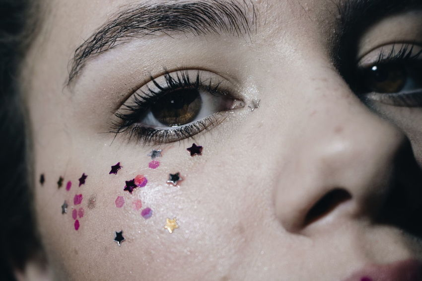EyeEm Selects Human Body Part Human Eye Human Face Eye Only Women Portrait Eyelash Adult One Young Woman Only One Woman Only Close-up Beauty Looking At Camera Young Adult Make-up Mascara Blue Eyes One Person Human Skin People Sparkle Grunge Tumblr