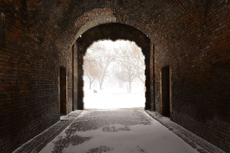 Beograd Gate Of Charles VI Kalemegdan Fortress Kapija Karla VI Arch Architecture Brick Wall Built Structure Cold Temperature Day Indoors  No People Sneakers Snow The Way Forward Window Winter Zima