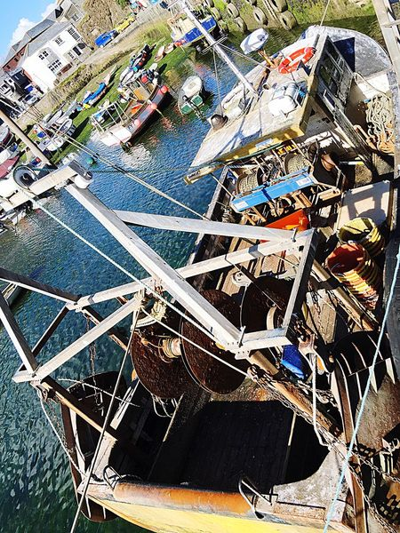 Fishing Boat Trawler Up Close In Your Face Taking Photos Enjoying Life Mevagissey Harbour Cornwall