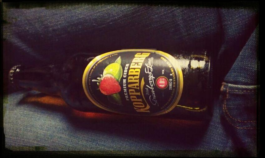 Drinking Kopparberg