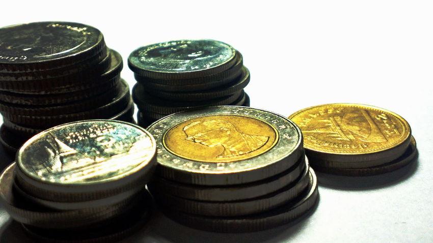 thai coins Bath Coins Collection Group Of Objects Indoors  Temptation Thai Coins Thaicoins Thailand Thailand's King