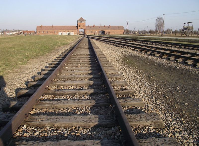 After Many Year Aushwitz Aushwitz-Birkenau Day Deaths Difference  EyeEm Gallery Nature No People Outdoors Poland Rail Transportation Railroad Track Sky Sunlight