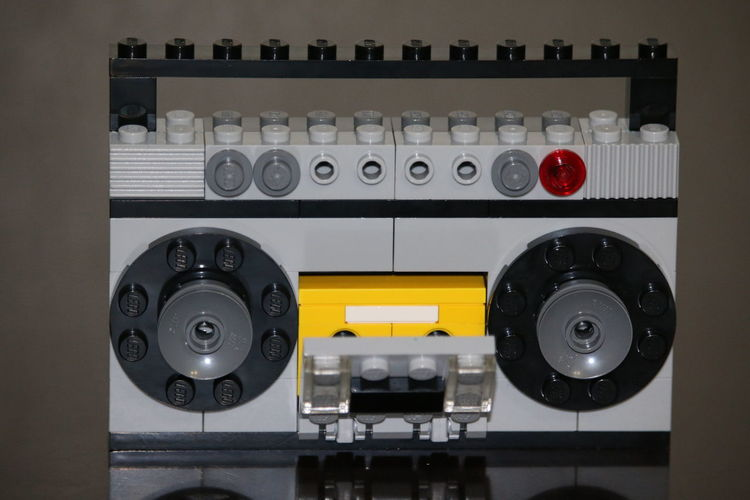 Quale: Quality Cassette Player Close Up LEGO Lego Toy Legos Old-fashioned Q Super Quality Camera Taperecorder Toy