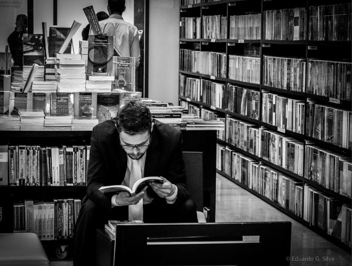 People & books. México City. Books Books ♥ Booklover BookLovers Black & White