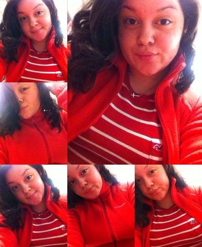 #Columbia Sweater #Cross Gold Chain #Hollister #RedFlow #CurlyHair