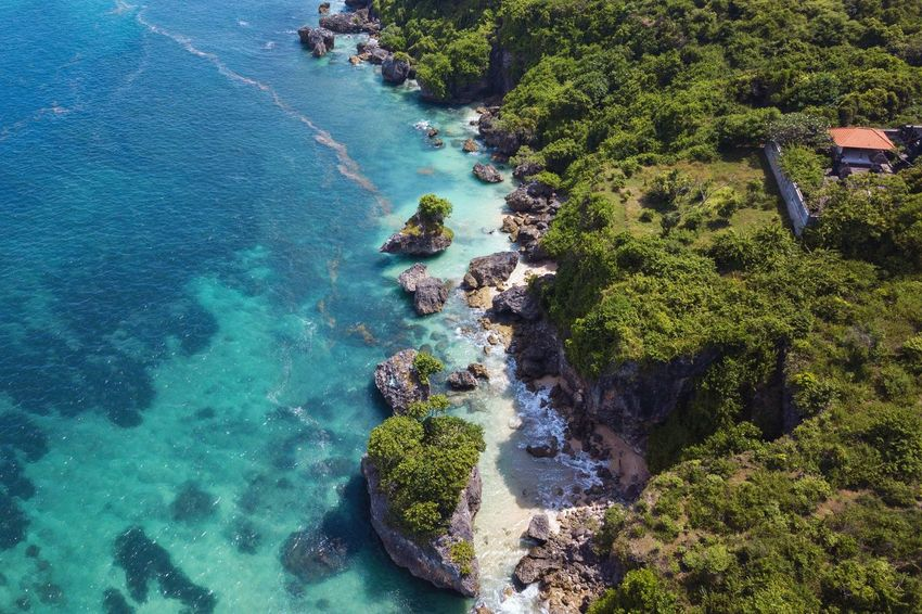 Water Nature Beauty In Nature Sea High Angle View Day No People Land Scenics - Nature Plant Tranquility Beach Tranquil Scene Outdoors